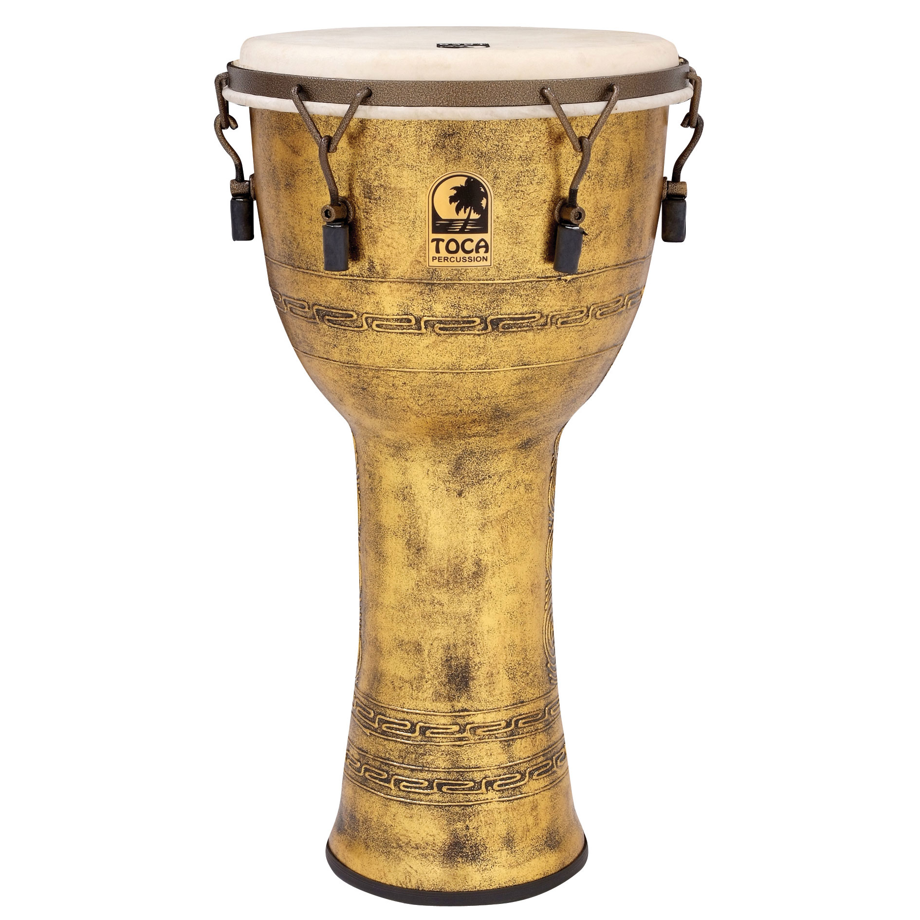 "Toca 12"" Freestyle Mechanically-Tuned Djembe with Extended Rim"