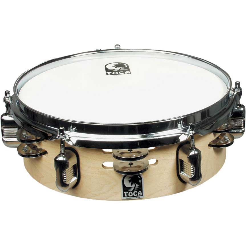 """Toca 10"""" Double-Row Jingle Snare with Gibraltar Mount"""