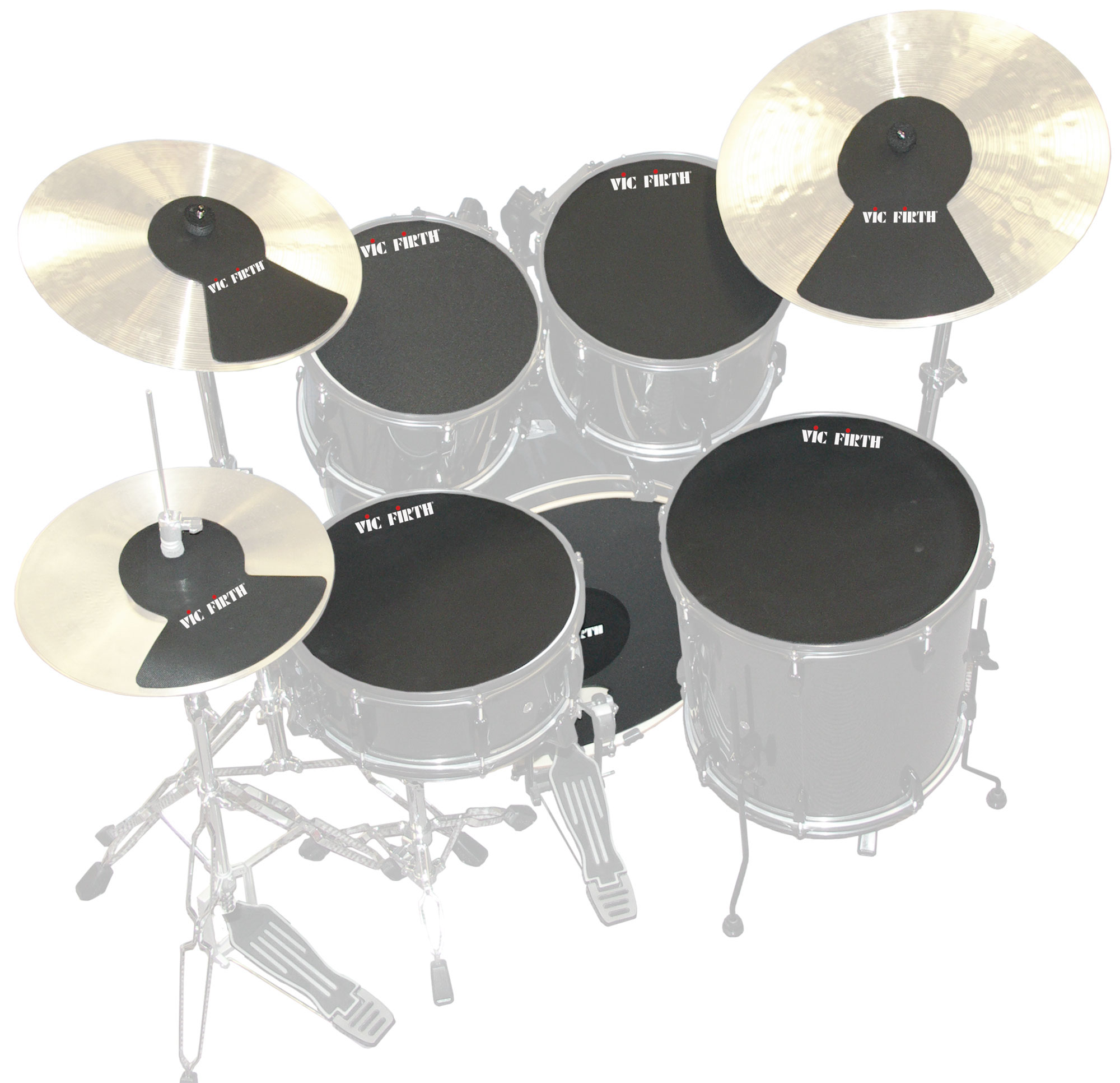 "Vic Firth Fusion Kit Drum & Cymbal Mute Pack (10""/12""/14""/14""/20"")"