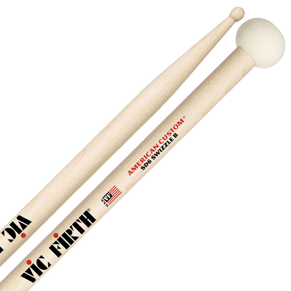 Vic Firth American Custom SD6 Swizzle B Drumstick/Mallets