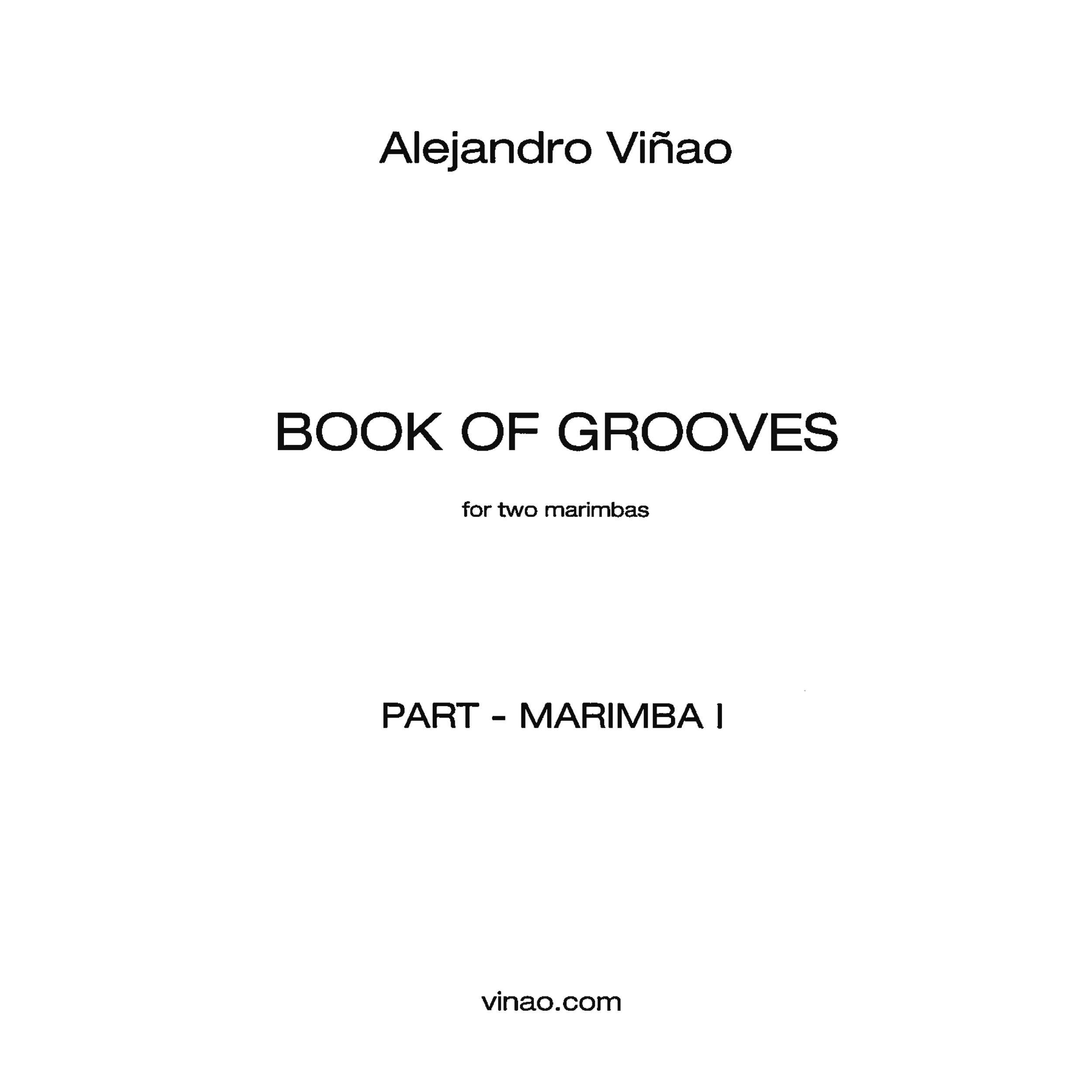 Book of Grooves by Alejandro Vinao (Parts)