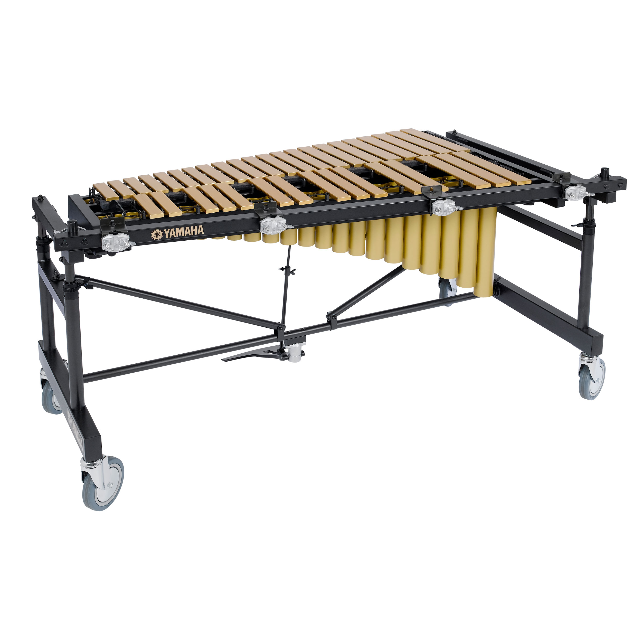 Yamaha 3 Octave Gold Studio Vibraphone, Motor, Multi-Frame with Cover