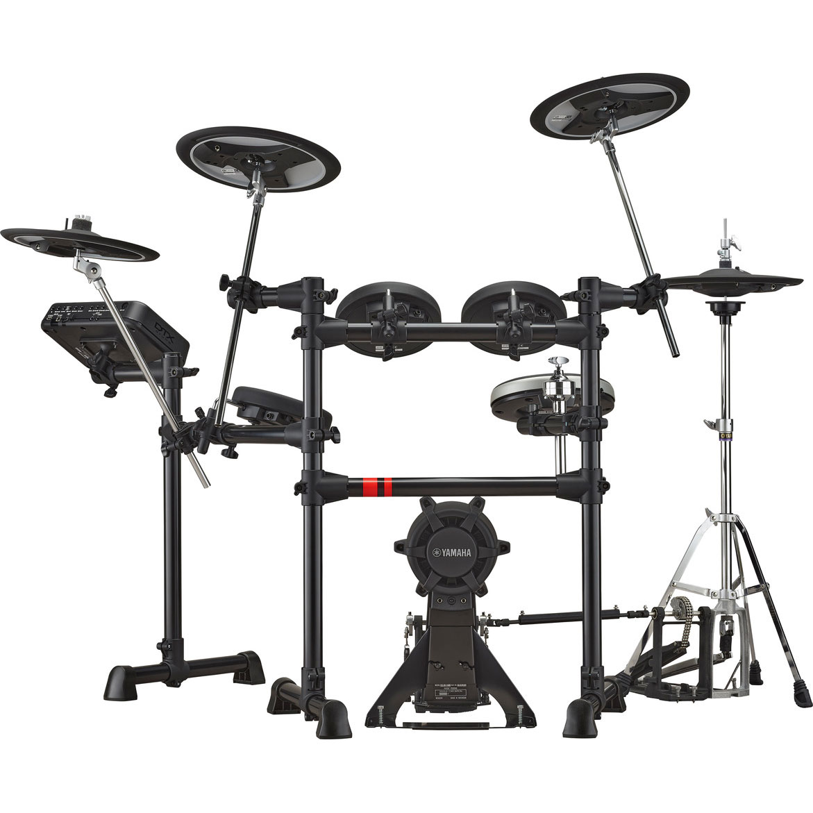 Yamaha 5-Piece Electronic Drum Set with K90 Kick Tower Pad, XP80 Snare Pad, 3 x XP70 Tom Pads, HS650A Hi Hat Trigger, and RS6 Rack
