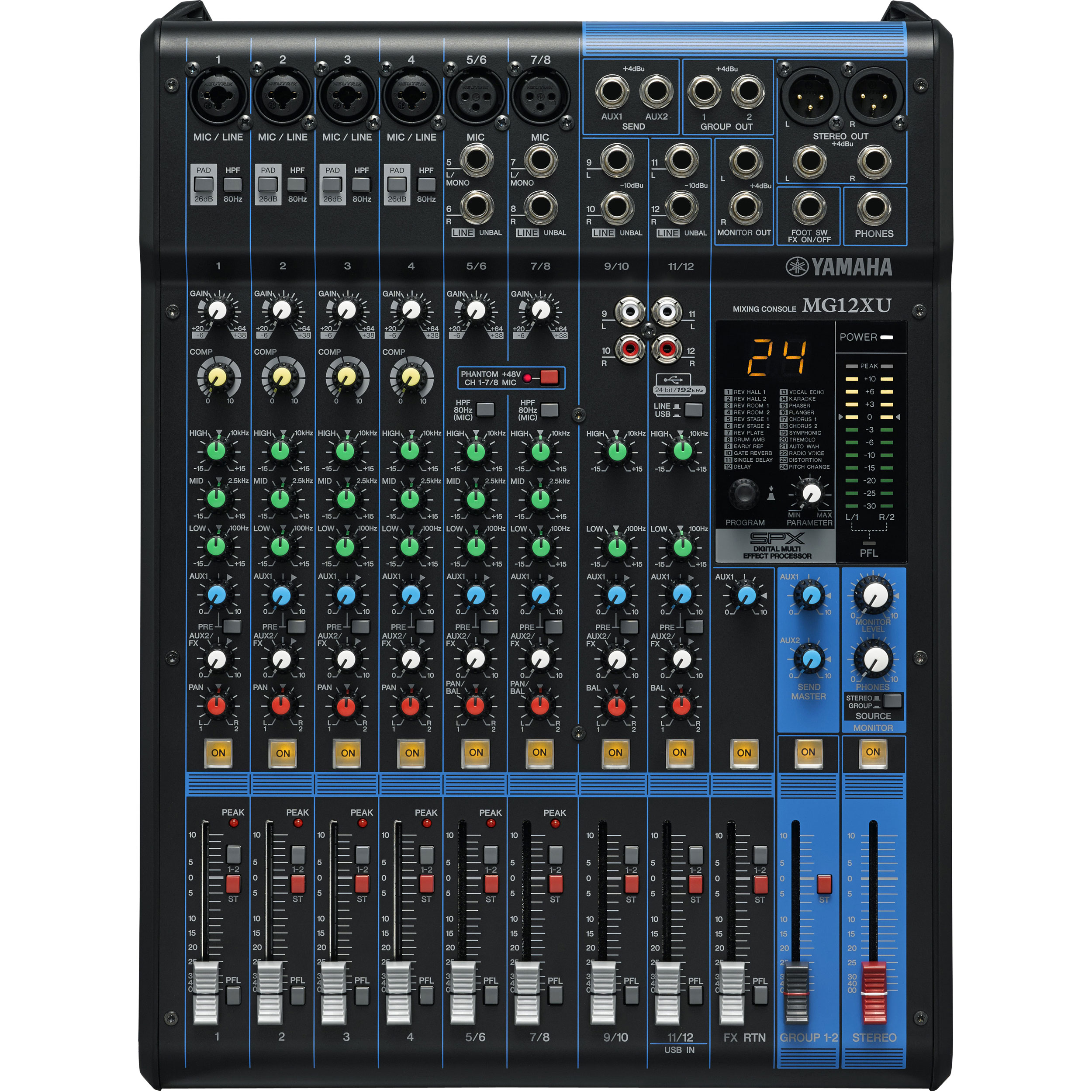 Yamaha MG Series 12-Input Analog Mixing Console with SPX Effects