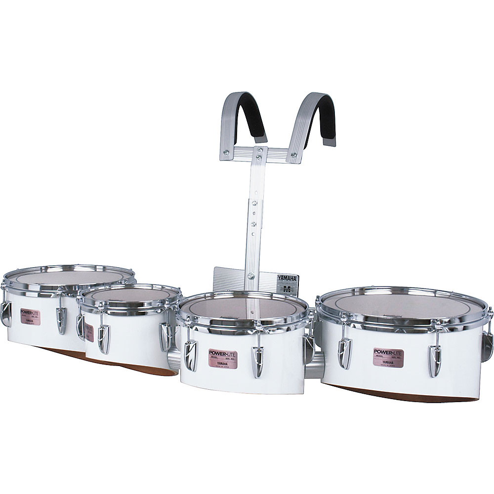 "Yamaha 8-10-12-13"" Power-Lite Drums/Carrier Marching Tenor Bundle"