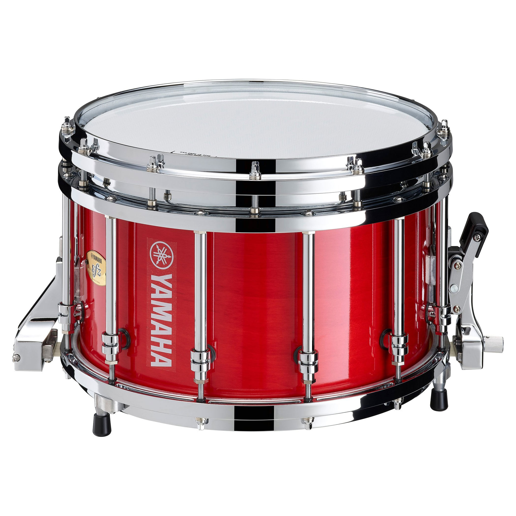 """Yamaha 14"""" x 9"""" 9400 Series SFZ Marching Snare Drum with Chrome Hardware"""