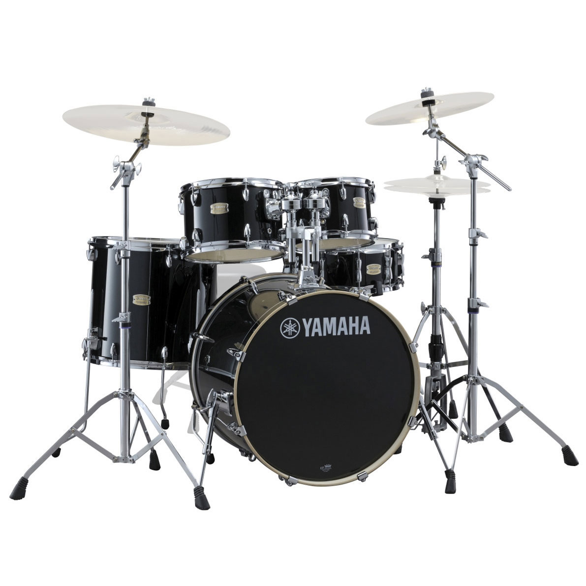 "Yamaha Stage Custom 5-Piece Rock Drum Set with HW-680W Hardware Pack (22"" Bass, 10/12/16"" Toms, 14"" Snare)"