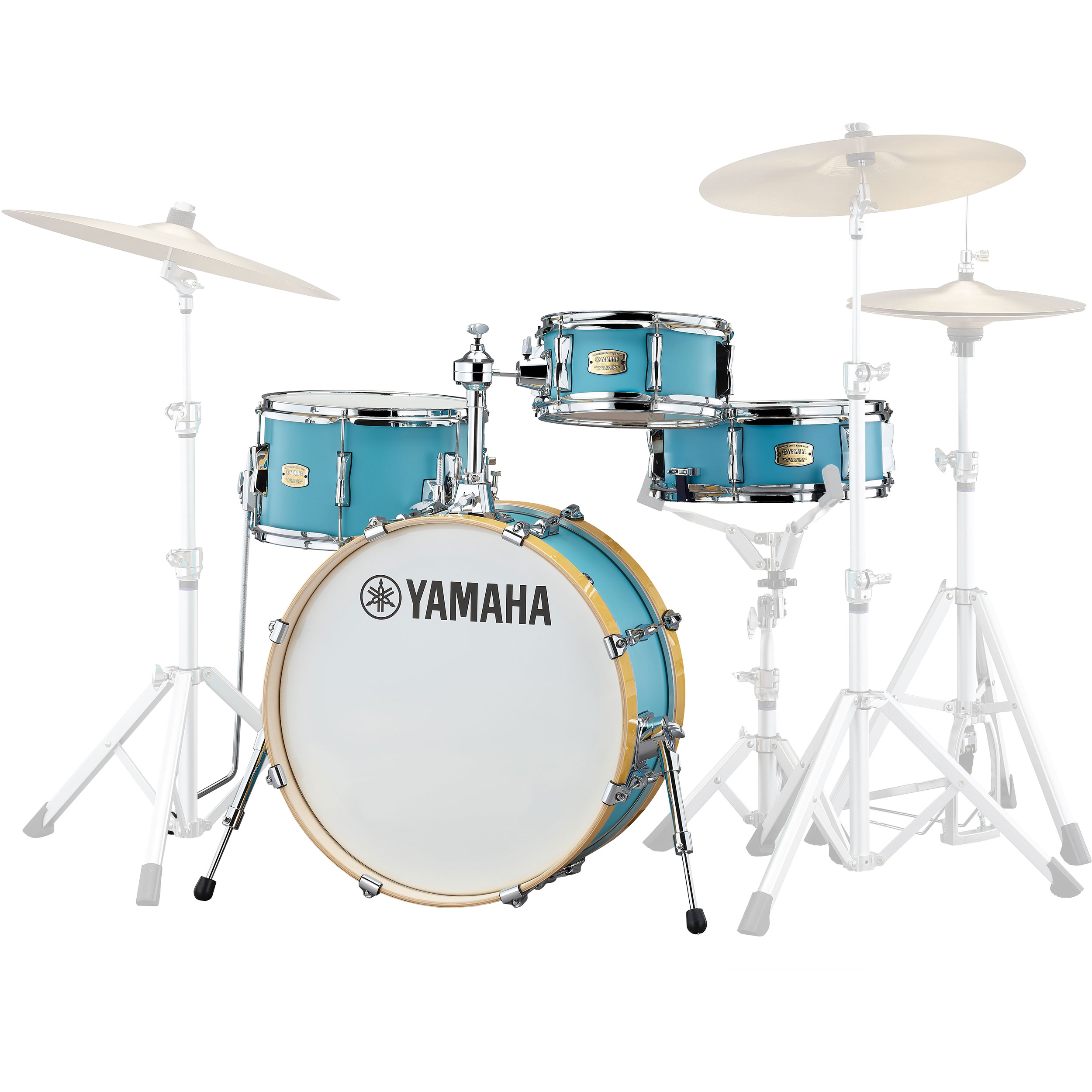 "Yamaha Stage Custom Hip 4-Piece Drum Set Shell Pack (20"" Bass, 10"" Tom, 13"" Tom/Snare, 13"" Snare)"