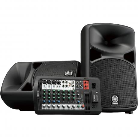 Yamaha Portable PA System with 10-Channel Powered Mixer & 2 10