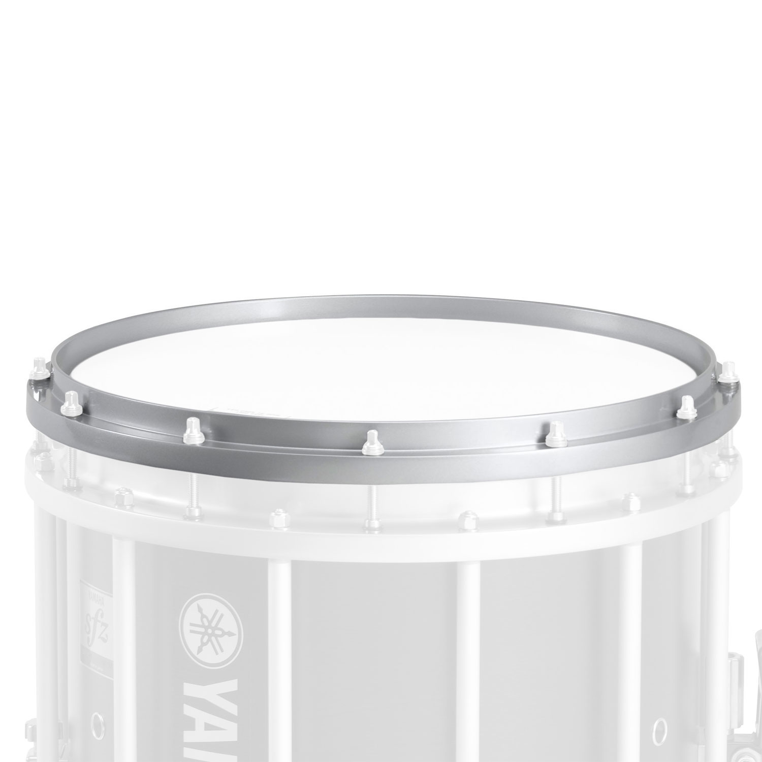 """Yamaha 14"""" Chrome Die-Cast Bottom Hoop for MS/MSS Marching Snare Drum"""
