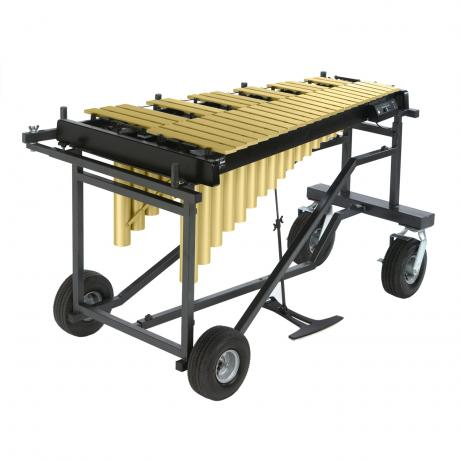 Yamaha 3 Octave Gold Studio Vibraphone, Motor, Tough-Terrain Frame with Cover
