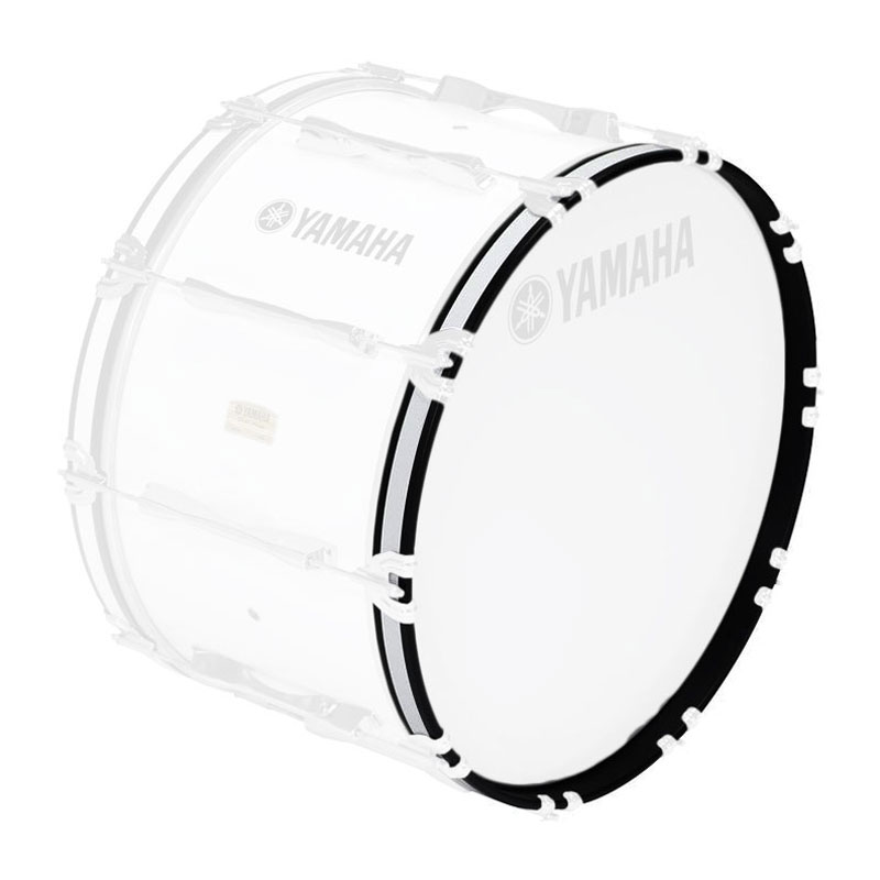 "Yamaha 14"" 8300 Series Marching Bass Drum Hoop in White"