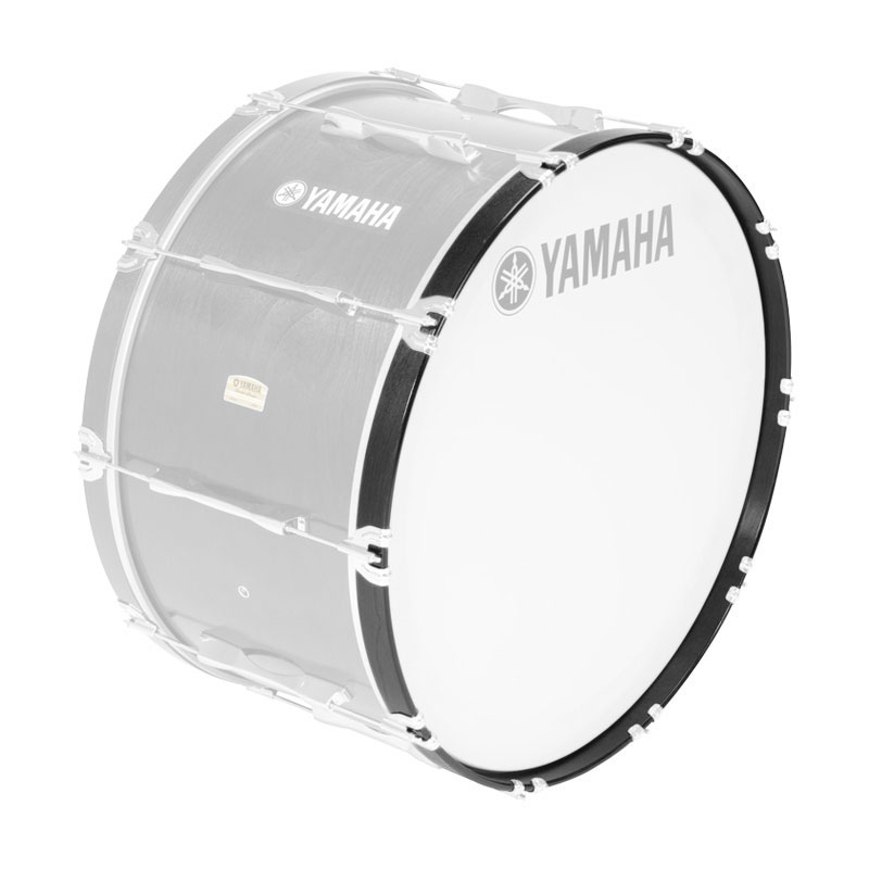 """Yamaha 16"""" 8300 Series Marching Bass Drum Hoop in Black Forest"""