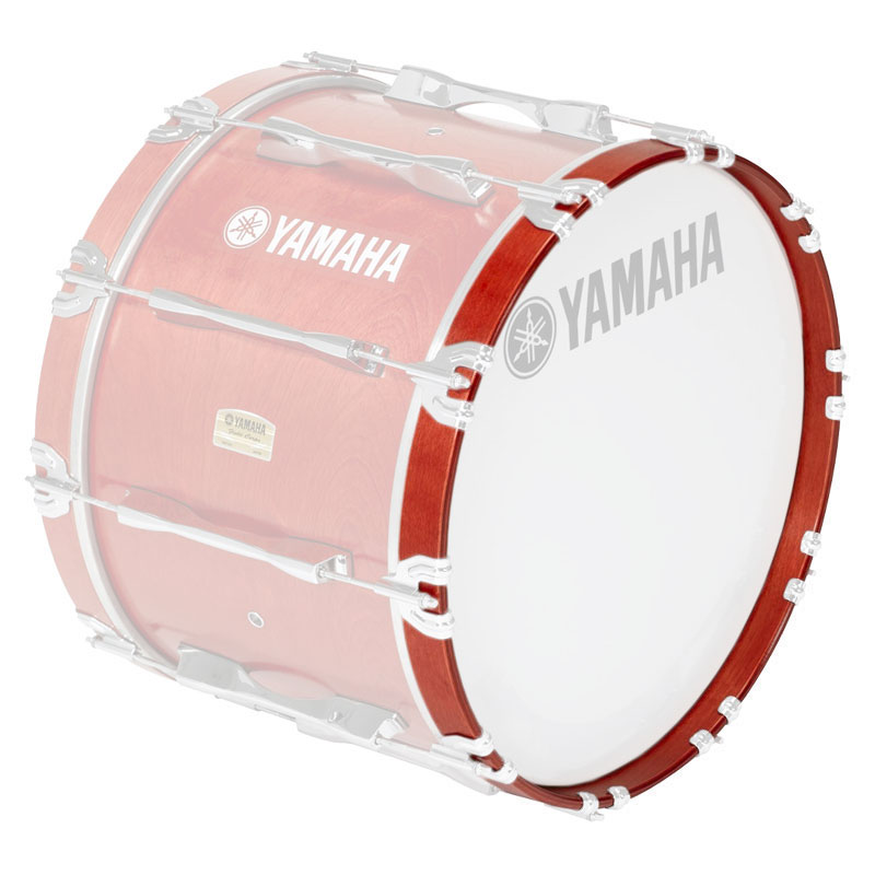 """Yamaha 16"""" 8300 Series Marching Bass Drum Hoop in Red Forest"""