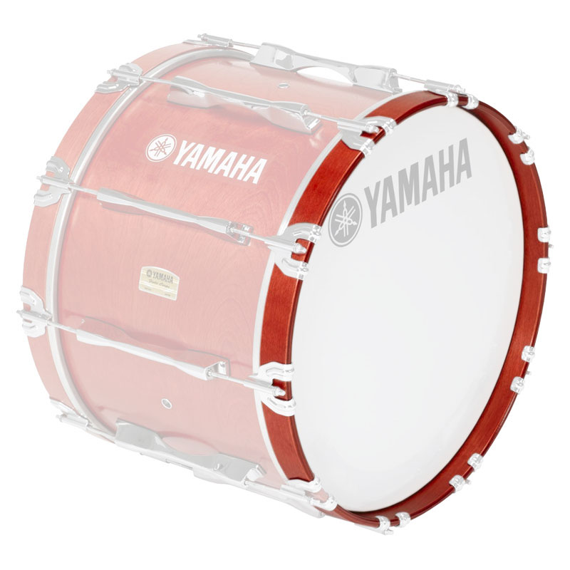 "Yamaha 20"" 8300 Series Marching Bass Drum Hoop in Red Forest"