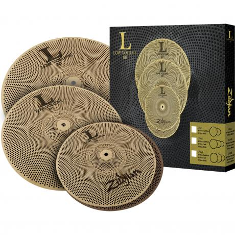 Zildjian L80 Low Volume 468 3-Piece Cymbal Box Set (14